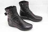Женские черные ботинки Battine B654, фото 2