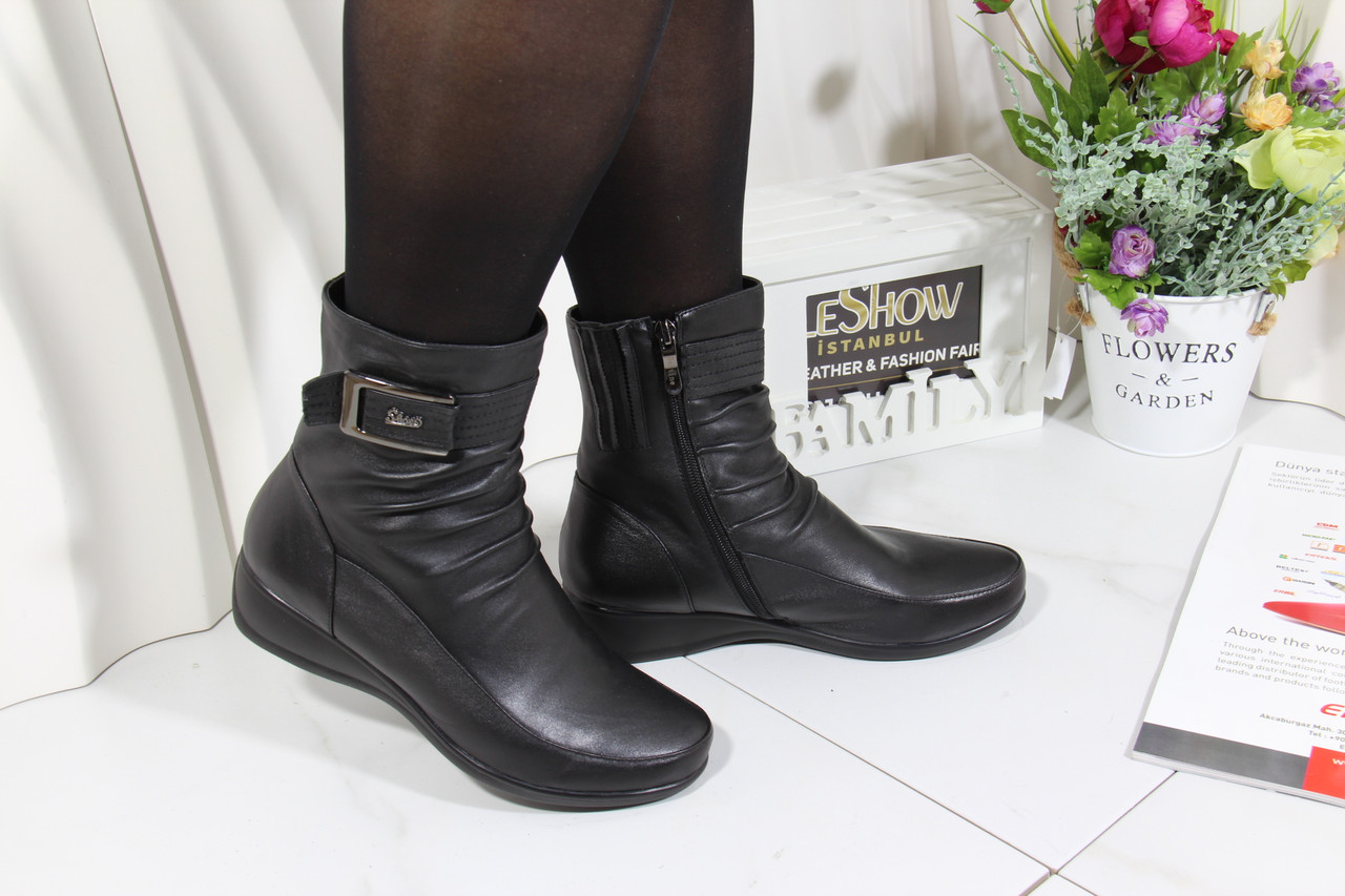 Женские черные ботинки Battine B654