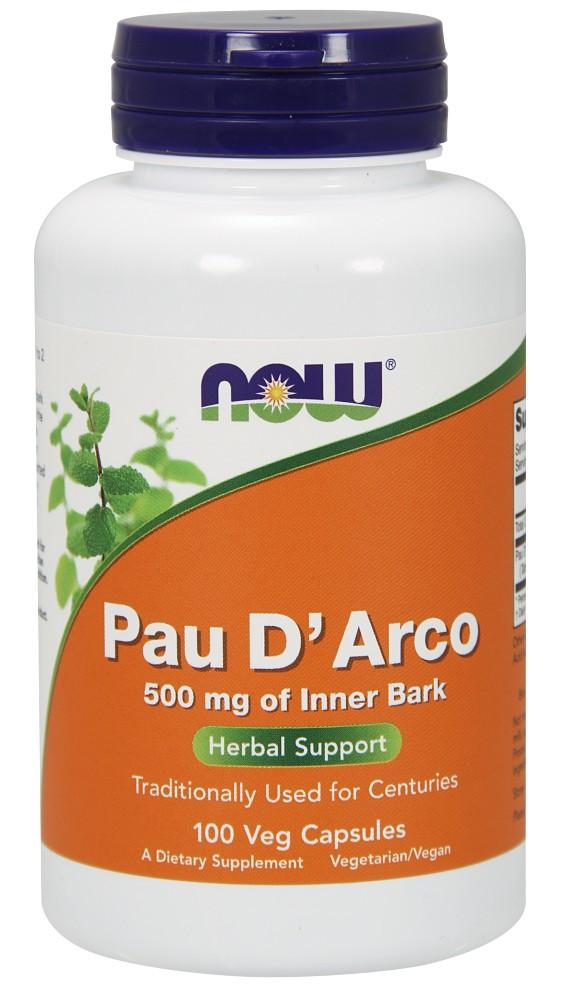Кора муравьиного дерева PAU D'ARCO 500 мг - 100 капсул