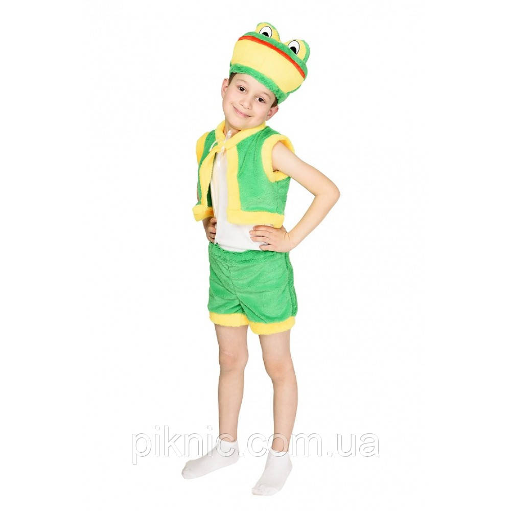 Дитячий карнавальний костюм Жабеня для дітей 3,4,5,6 років Костюм Жабка