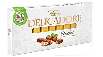 Шоколад Baron Excellent Delicadore Hazelnut молочный с орехом 200г