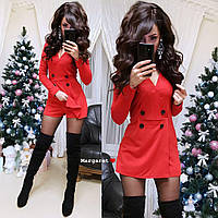 Комбинезон -платье пиджак женский, 3 цвета!