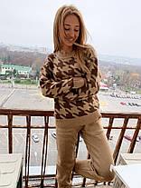 Костюм женский теплый вязаный штаны и кофта шерсть, фото 2