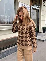 Костюм женский теплый вязаный штаны и кофта шерсть, фото 3