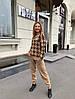 Костюм женский теплый вязаный штаны и кофта шерсть, фото 4