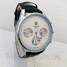 Мужские кварцевые  часы  Carrerai (реплика) Серебро с белым циферблатом