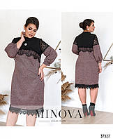 Мягкое, уютное платье из нового каталога платьев  от Minova  Размеры: 48,50,52,54,56,58,60, фото 1