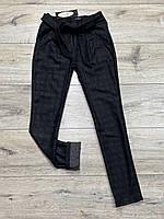 Стрейчевые кашемировые брюки на байке ( с карманами) для девочек. 134- 146 рост.