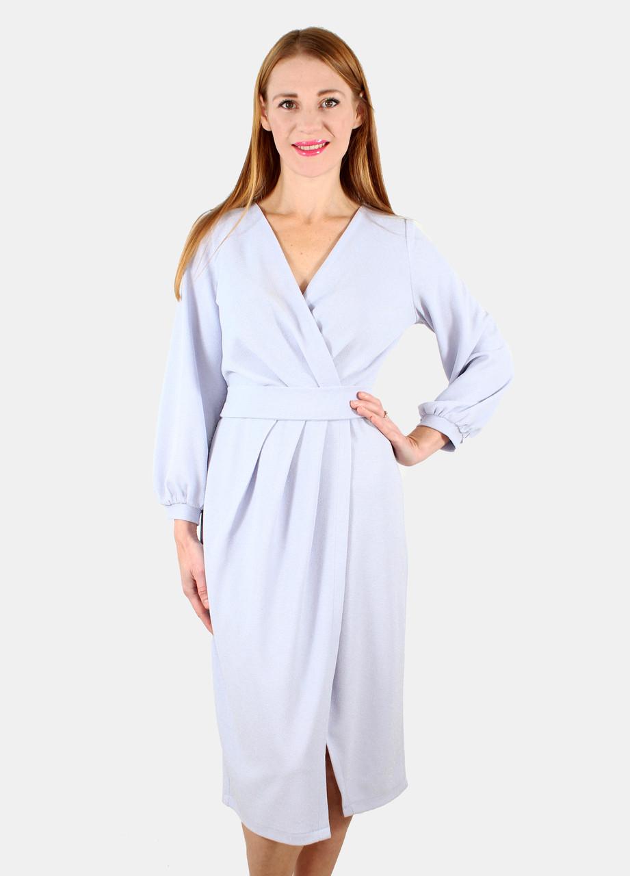 Вечернее платье на запах 44-50 р ( голубой, розовый )