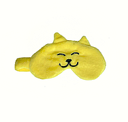 Повязка на глаза, Кот, желтая