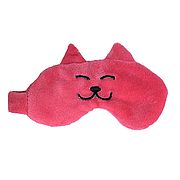 Повязка на глаза, Кот, розовая