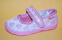 Детские Тапочки Vitaliya Украина 001100 Для девочек Розовый размеры 19_23, фото 1