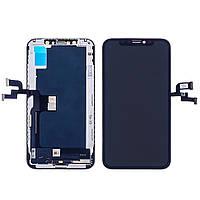 Дисплей для Apple iPhone XS с чёрным тачскрином (модуль, LCD) (IPS)