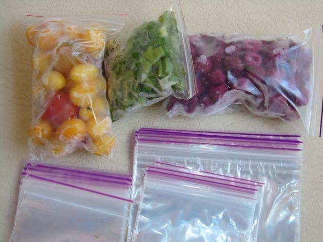 Применение пищевых зип пакетов
