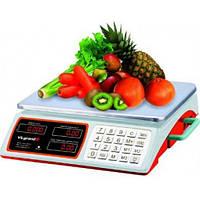 Весы торговые VILGRAND VES-4034SH (40 кг, сеть, аккум., батарейка D)