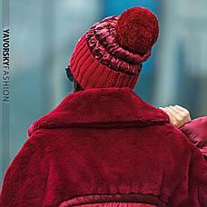 Шапка женская зимняя с бубоном, фото 2