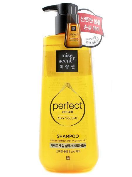 Поживний шампунь для додання повітряного об'єму волоссю Mise en Scene Perfect Serum Airy Volume Shampoo 680 мл
