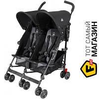 Прогулочная коляска- трость двухместная Maclaren Twin Triumph Black/Charcoal (WM1Y120032) черный