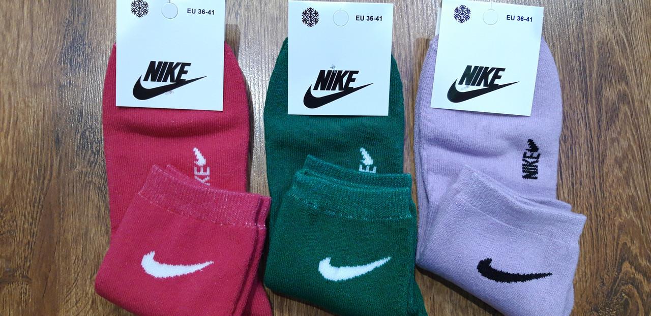 """Жіночі махрові шкарпетки в стилі""""Nike А"""",Туреччина 36-41"""
