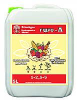 StimAgro добрива для гідропоніки та грунту ГІДРО-А 1-2,5-5 5L