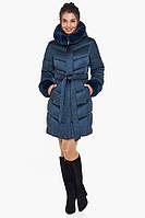 Воздуховик женский теплая куртка зимняя с капюшоном цвет синий Braggart