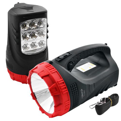 Фонарь прожектор аккумуляторный 2827 фонарик переносной светодиодный