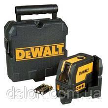 Лазерный уровень DeWALT DW0822, класс лазера 2, направление лучей вверх/вниз, точность +/-0,2мм/м