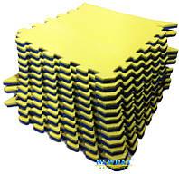 Пазлы, 12 элементов, 1920×1440×20мм, 2,7м² ХС ППЭ, 33кг/м³, детский теплоизоляционный игровой коврик