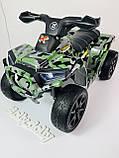 Детский электро квадроцикл M 4207 ELS камуфляж, кож сиденье, фото 3