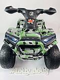 Детский электро квадроцикл M 4207 ELS камуфляж, кож сиденье, фото 7