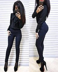 Лосины с карманами высокая талия стрейч джинс