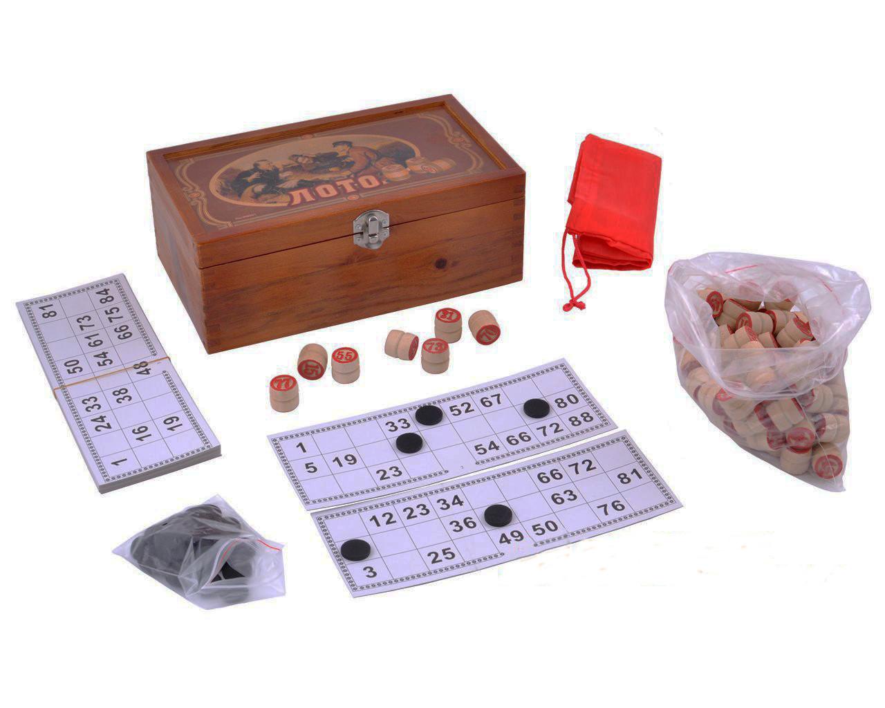 Подарочный набор Лото в деревянной шкатулке