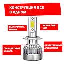 Лампа светодиодная для фар С6MAX  H9 3800 Lum, цвет свечения 6000К, 2 шт/компл., фото 2