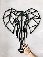 Настенный декор Слон (черный)