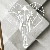Настенный декор Слон (белый)