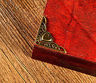 Декор угловой бронза сердце, фото 1