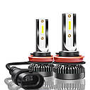 Лампа светодиодная для фар MINI LED  H9 4000 Lum, цвет свечения 6000К, 2 шт/компл., фото 5