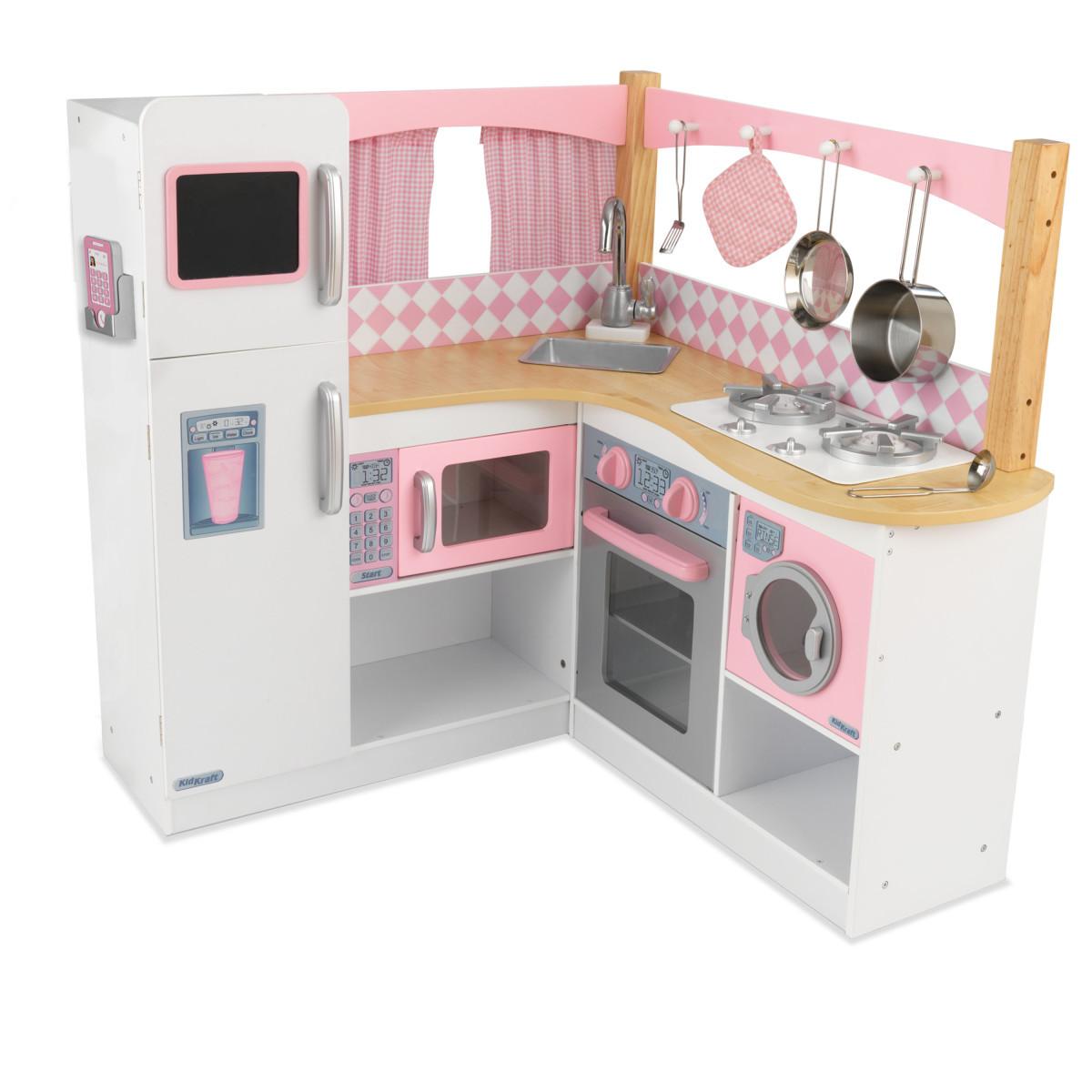 Кухня угловая игрушечная KidKraft 53185. Кухня для детей