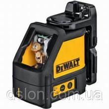 Лазер, DeWALT DW088K, 3 батареи АА, самовыравнивание ± 0.4, точность +/-0,3мм/м, диапазон 10-50м,вес 0.46кг