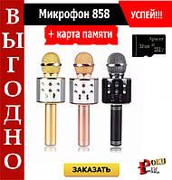 Микрофон караоке беспроводной Wster WS-858 + карта памяти