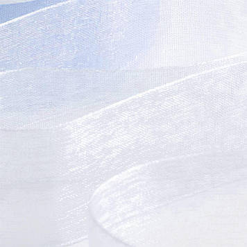 Лента органза бело-голубая 25 мм 46 м