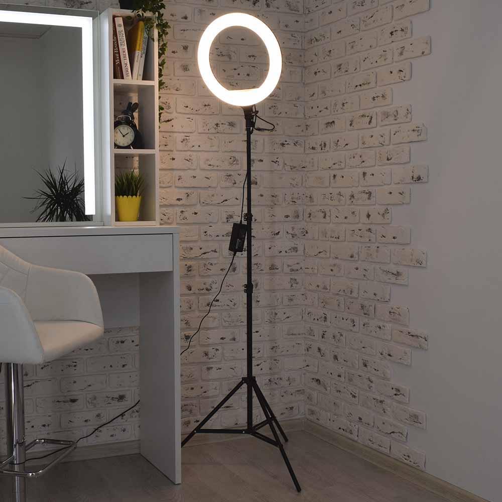 Кольцевая светодиодная лампа LED 46см селфи кольцо для блогера Q480 чехол