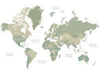 Фотообои Карта мира    арт. 431188162