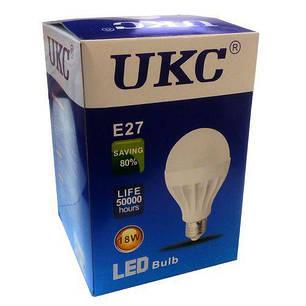 Світлодіодна LED лампа UKC Light Bulb E27 18W, фото 2
