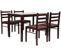 Комплект обеденный Брауни (стол+4 стула) темный шоколад/эспрессо
