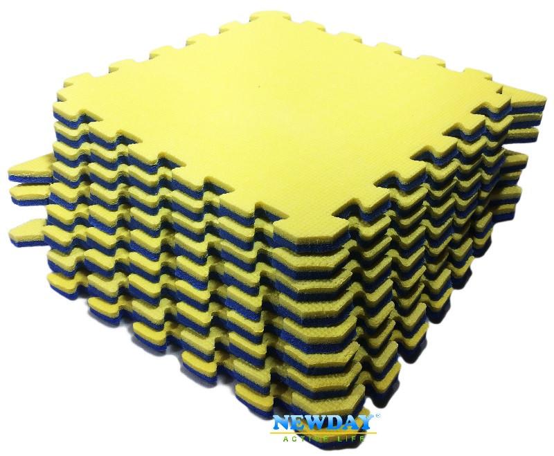 Пазлы, 9 элементов, 1440×1440×20мм, 2,07м² ХС ППЭ, 33кг/м³, детский теплоизоляционный игровой коврик