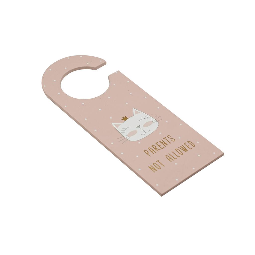 Дверная вешалка розовая Cat МДФ 24см 108765