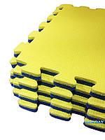 Пазлы, 1 элемент, 480×480×20мм,  ХС ППЭ, 33кг/м³, детский теплоизоляционный игровой коврик