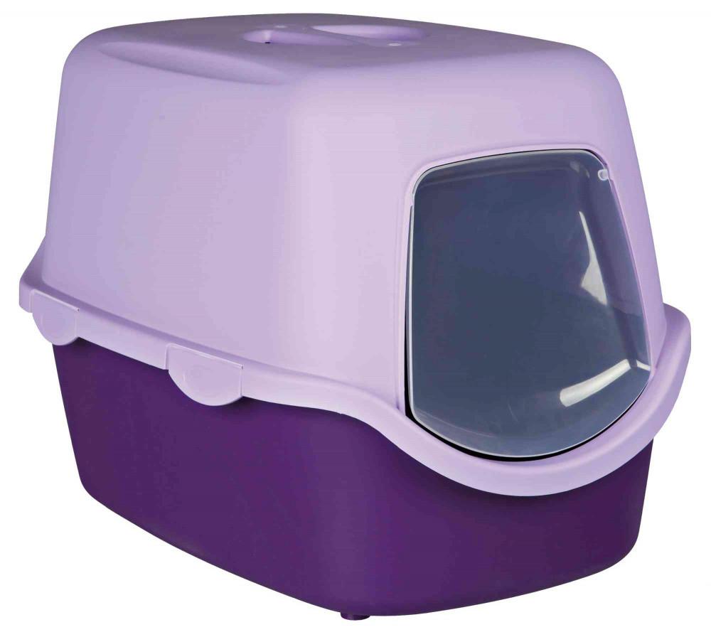 Закритий туалет для котів Trixie Vico бузковий 40х40х56 см