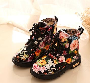 Детские ботинки Детские ботинки зима Детские ботинки для девочки Зимние детские сапожки Ботинки девочка